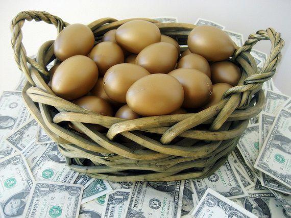 英語のことわざ【すべての卵を一つのカゴに入れるな】